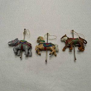 Vintage Avon Carousel Ornaments